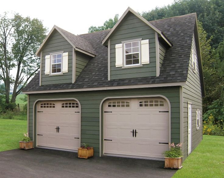 Different type of garages with living quarters blog for Prefab 2 car detached garage